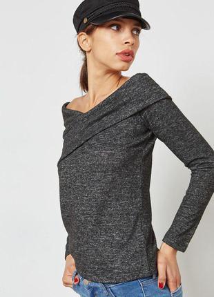 Блузка джемпер кофта плечи открытые плечи zara