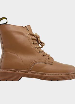 Ботинки женские dr martens 1460 beige premium (мех)