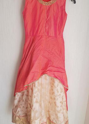 Платье осени карнавальное для аниматора огонь листья осенние принцесы золушки сукня для фотосесії сарафан оссенней фотосессии