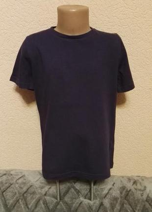 Футболка фиолетовая 100% хлопок для мальчика 8лет,рост 128см от tu