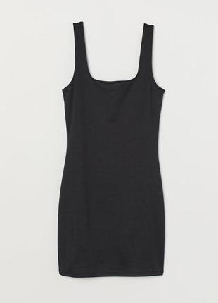 Короткое облегающее платье из эластичного трикотажа h&m