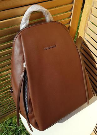 Популярный удобный коричневый женский рюкзак david jones #5848 david jones
