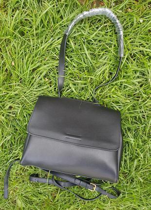 Люксовая стильная черная женская сумка кроссбоди женский черный клатч