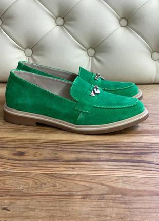Замшевые крутые туфли лоферы в любом цвете