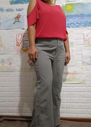 Классические широкие стрейчевые брюки штаны