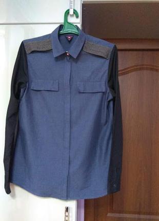 100% коттон. трендовий фасон, базова блузка/сорочка maison scotch (голандія), р. 4 (l/m)