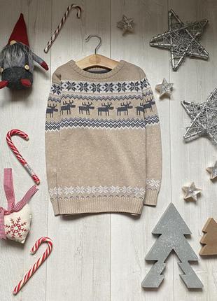 Тёплый свитер next 5-6 лет