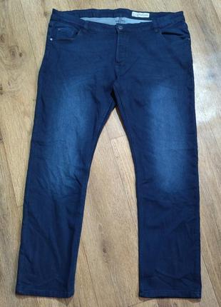 Батал! мягенькие джинсы темно-синего цвета livergy, р. 68. замеры на фото