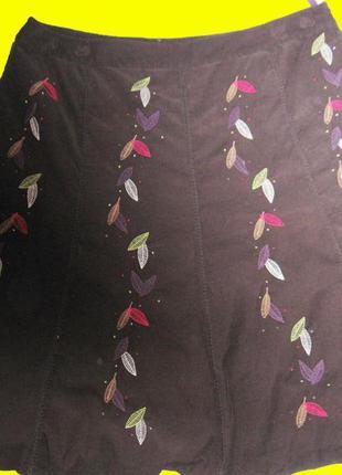 Нарядная юбка,микровельвет,размер uk-20.laura ashley