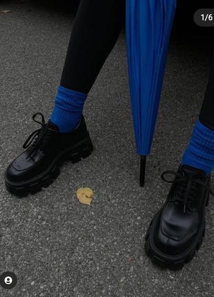 Тренд 2021 черные туфли платформа лоферы обмен