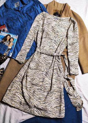 H&m платье рубашка блуза миди белое бежевое чёрное с поясом свободное оверсайз
