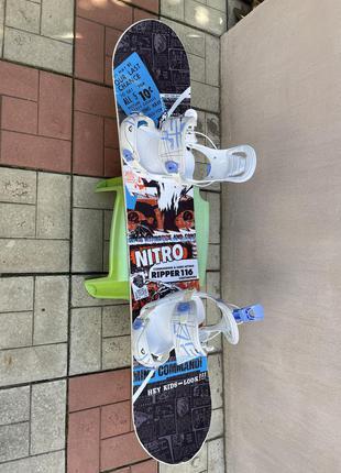 Сноуборд nitro ripper youth 116 см с креплениями fastec
