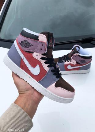 Кросовки кросівки кроссовки air jordan 1 демисезонные кожаные