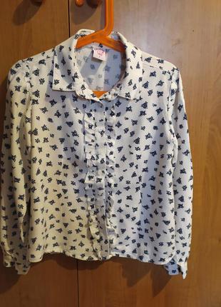 Блузка-рубашка 7 лет sela отличное состояние