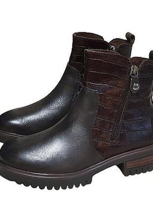 Caprice - женские демисезонные кожаные ботинки челси - 36, 37