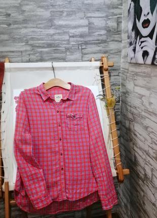 Рубашка в клетку hollister
