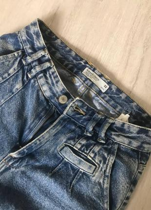 Джинсы мом синие mom jeans house