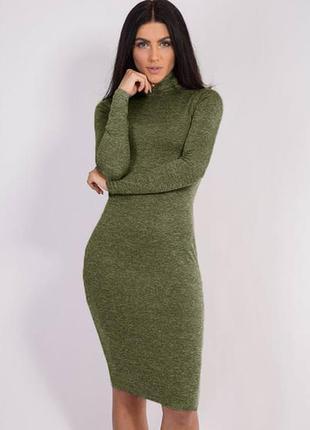 Платье - гольф из ангоры миди тёплое
