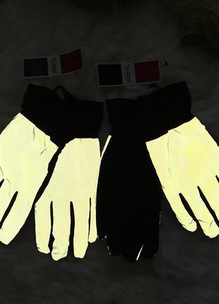 Светоотражающие фирменные перчатки clique, размер м