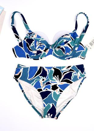 38c, яркий раздельный купальник triumph hibiscus elegance tw + tai
