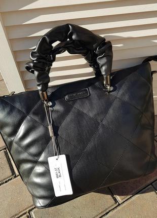 Трендовая черная женская сумка david jones original