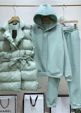 Тёплый костюм тройка 🔥новинка🔥 4 цвета