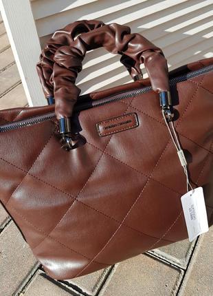 Новинка женская деловая прошитая сумка david jones original 6661-3