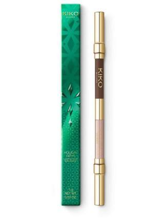 Карандаш для глаз holyday gems олівчик олівець для очей кико kiko milano матовый перламутровый  олівець олівчик
