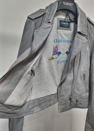 Новая косуха oakwood, франция 100% кожа эффект состаренной куртка кожанка