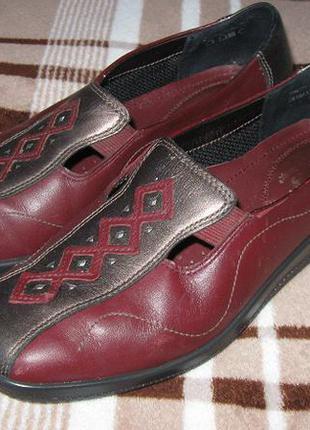 Туфли кожаные цветные демисезон