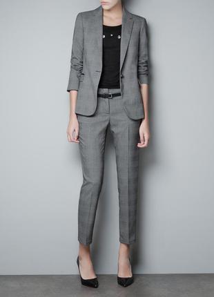 Класический брючный костюм пиджак блейзер + брюки zara размер м