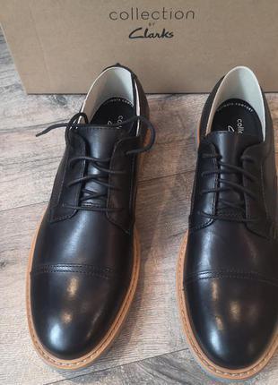 Крутые  кожаные туфли clarks     р 44