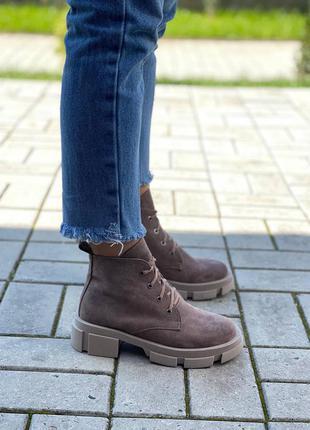 Ботинки замш