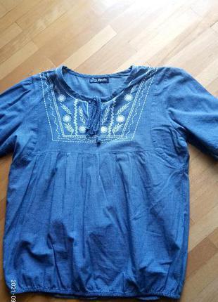 Класна котонова блуза вишиванка ofeliya s(36) p.