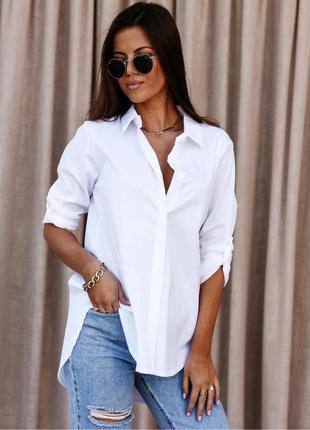Белая рубашка блуза 100% хлопок