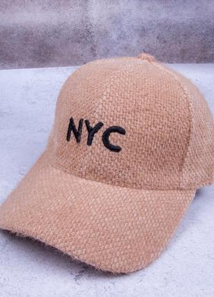 Кепка бейсболка женская, теплая кепка