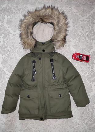 Тёплая куртка парка зима 2-3 года nature