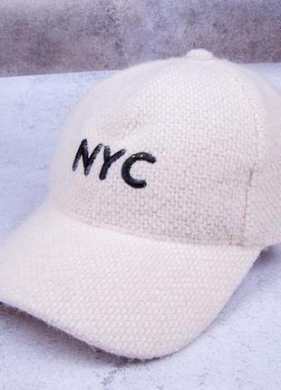 Модная бейсболка, теплая кепка, шапка женская