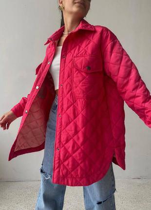 Стёганная куртка-рубашка, самый тренд этой осени🍂🤩 119