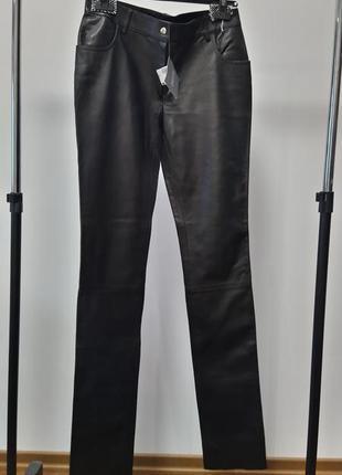 Новые кожаные брюки braude made in italy премиум штаны из кожи оригинал