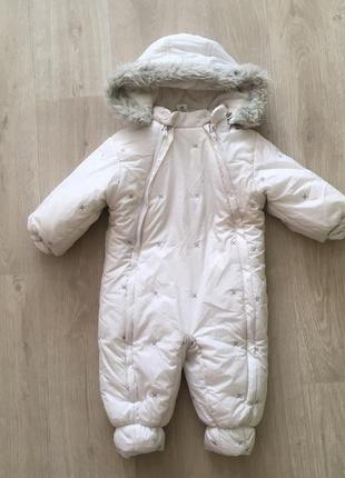 Комбинезон белый зимний 80 см
