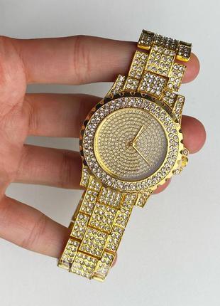 Часы золото кварцевые женские, хит сезона, годинник жіночий золотий кварцовий