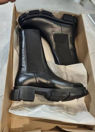 Ботинки челси женские деми зима натуральная кожа