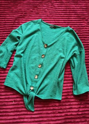 Кофта, блузка на завязках, с узлом