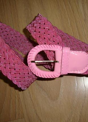 Ремень пояс розовый текстиль