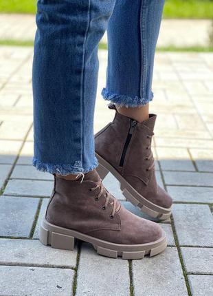 Женские ботинки, ботинки демисезонные, ботинки деми, ботиночки женские, ботинки замшевые