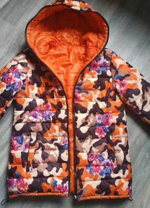Зимняя куртка пуховик двухсторонняя оверсайз обмен