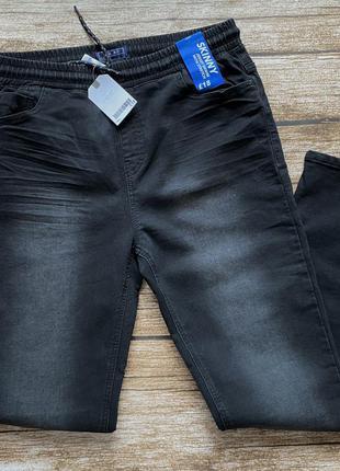 Трикотажные джинсы без застежки 16 лет, рост 176 (s) 29р. 30р.