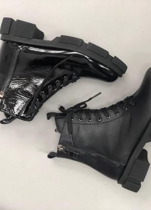 Ботинки женские деми зима натуральная кожа замша