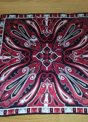 Codello роскошный винтажный платок из натурального шелка